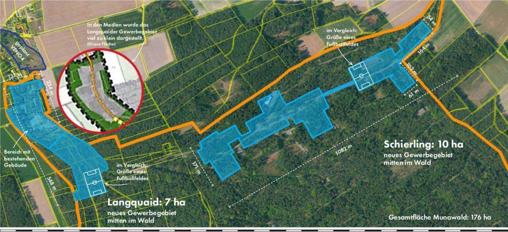 Skizze Planung Gewerbegebiet 17 ha