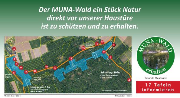 Rund um den Munawald - mit Info - Übersicht